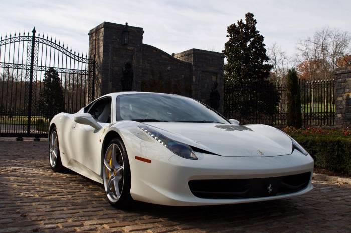 Авто, Феррари, белая, машина, Ferrari, white