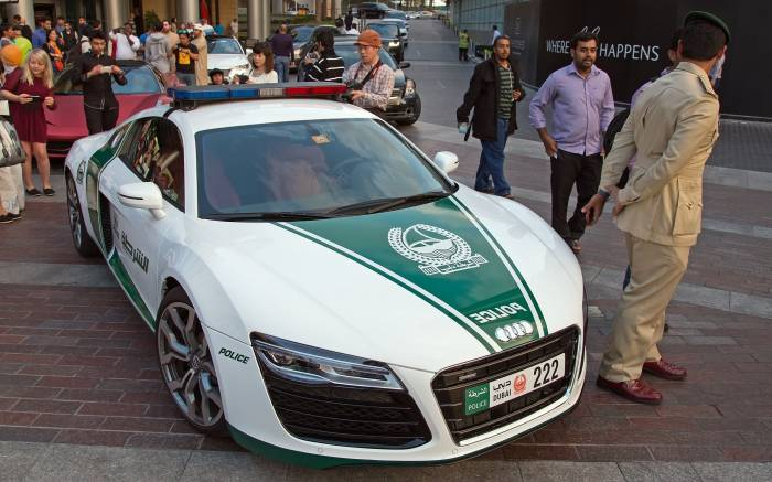 Авто, Police, Dubai, Audi, R8, Ауди, полиция, car