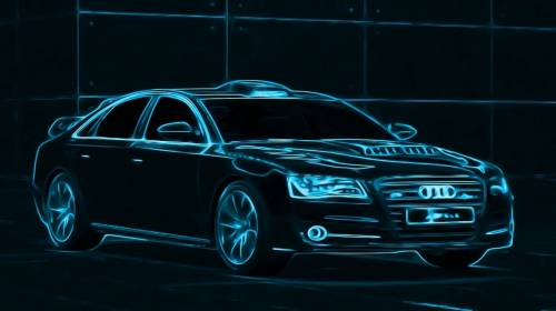 Audi, Aуди А8, авто, графика, машина