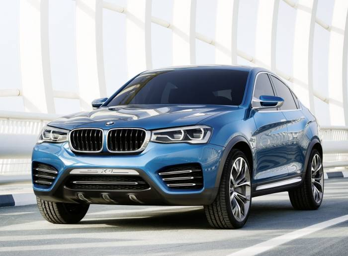 Автомобиль, BMW, X4, blue, concept, машина, БМВ