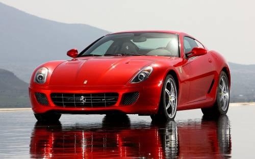 Красный Ферарри 599 GTB Fiorano, Ferrari 599 GTB