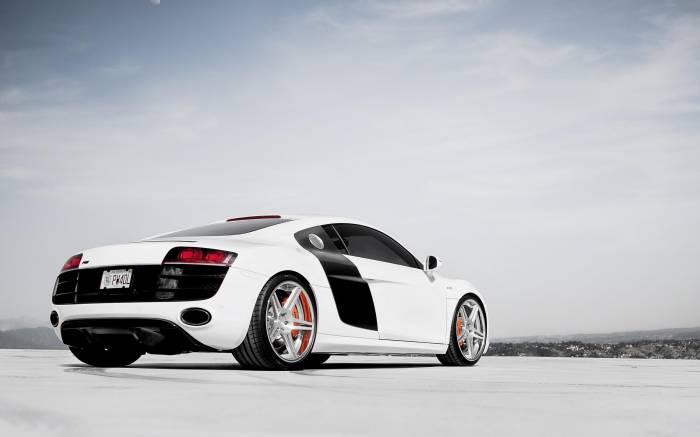 Авто, audi, r8, ауди, автомобиль, белый, car