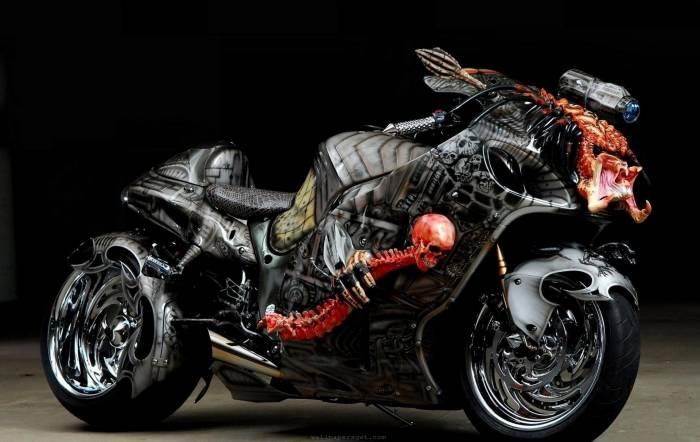 Mотоцикл, байк, motorcycle, bike, череп, тюнинг