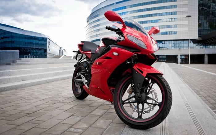 мотоцикл, Minsk, Минск, красный, город, байк, bike