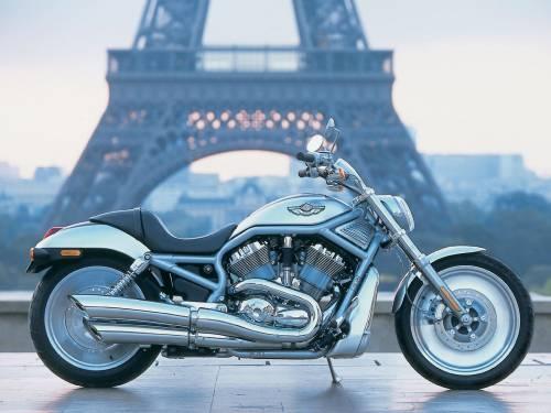 Harley Davidson, Париж, Пейзаж, Мотоцикл