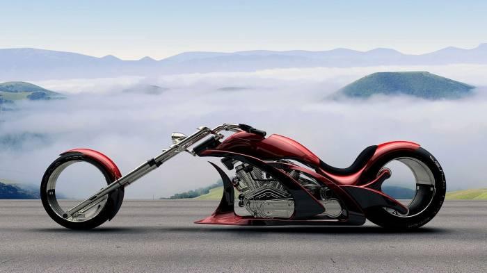 Мотоцикл, концепт, дизайн, красный, байк, bike