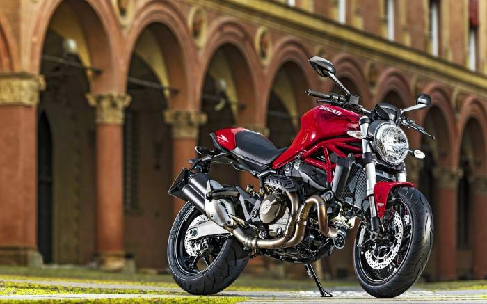 Ducati Monster 821, Дукати, мотоцикл, красный