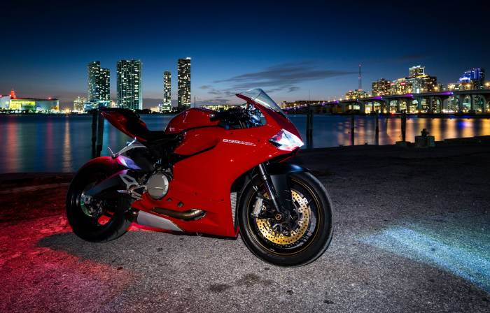 Ducati 899, Panigale, мотоцикл, Дукати, сумерки