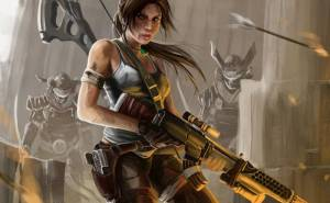 Девушка, арт, Lara Croft, Tomb Raider, art