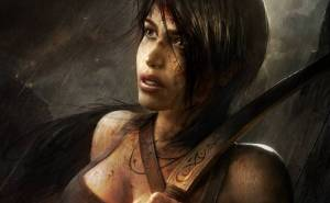 Lara Croft, Tomb Raider, Лара Крофт, арт, кровь