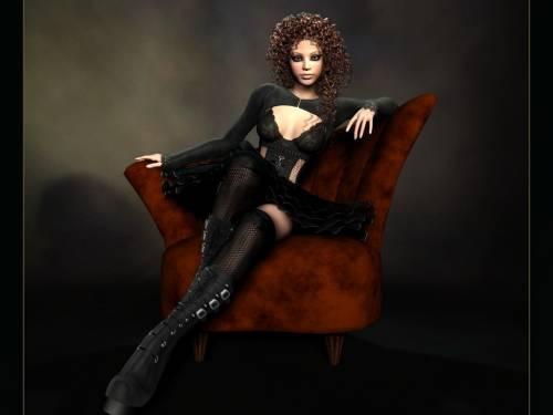 фэнтэзи гел, Fantasy Girl, девушка, арт, кресло