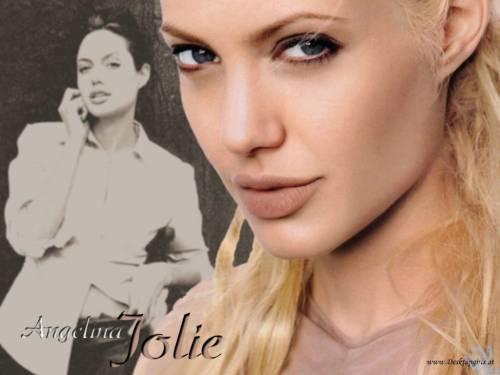 Angelina Jolie, Анжелина Джоли, взгляд, блондинка