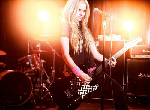Avril Lavigne, гитара, Аврил Лавин, блондинка