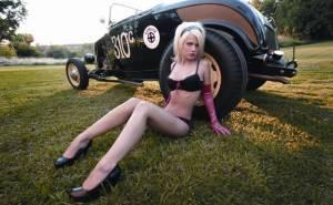 Bethany, девушка, блондинка, авто, pinup, hot rod