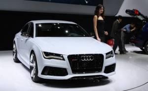 Audi RS7, white, автомобиль, Ауди, девушка, car