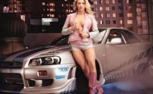 Блондинка, тюнинг, авто