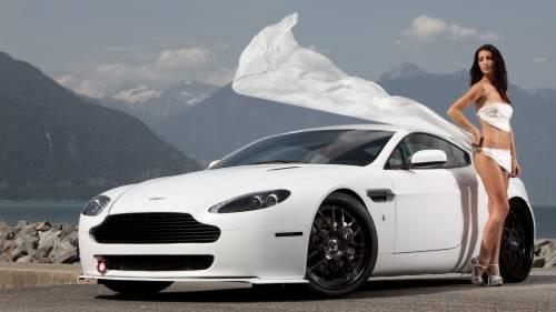 Девушка, авто, горы, бентли, Bentley