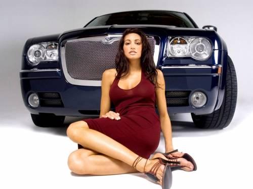 Шикарная девушка, авто