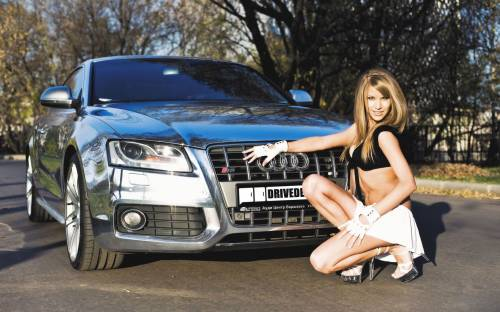 Audi, s5, авто, девушка, ауди