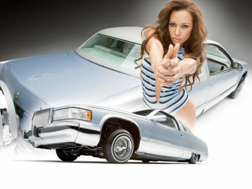 Девушка, авто, графика