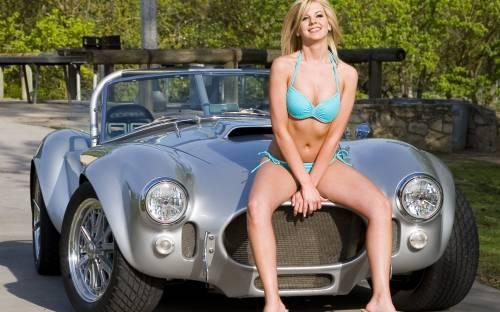 Девушка, блондинка, авто, ford