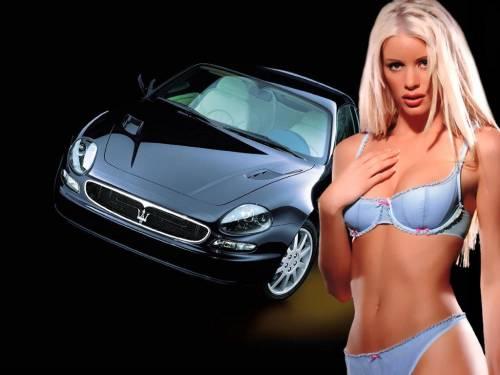 Авто, блондинка