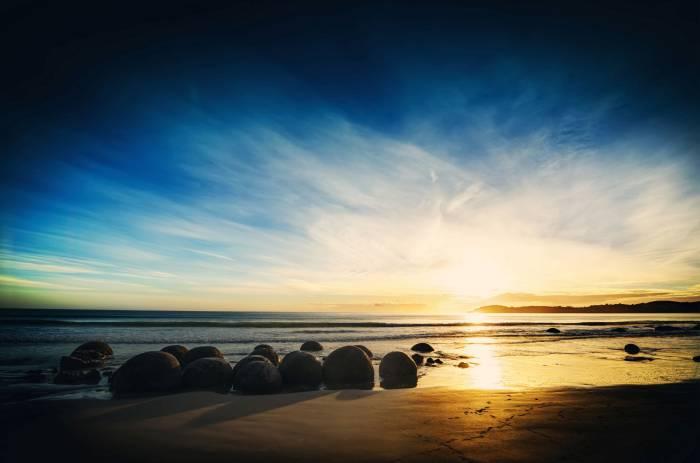 Пейзаж, песок, море, природа, вода, закат, sunset