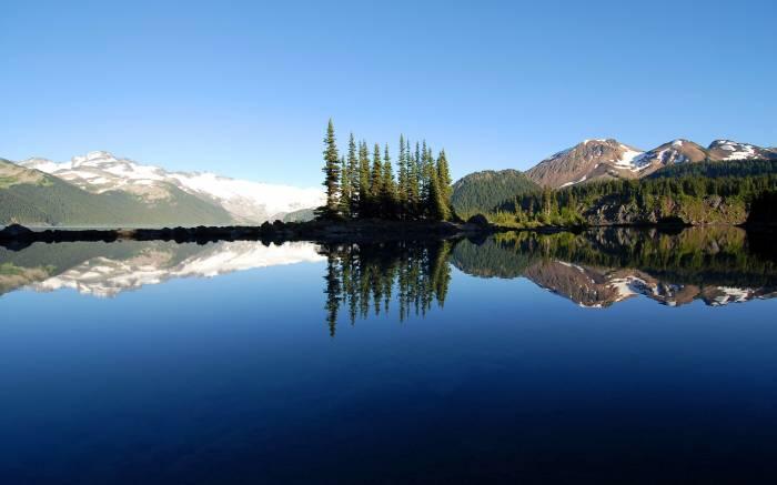 Канада, Canada, лес, природа, озеро, отражение