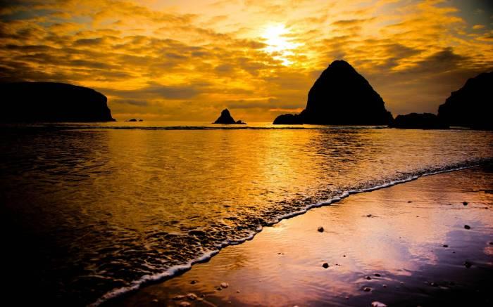 Море, пляж, пена, скалы, природа, sea, beach