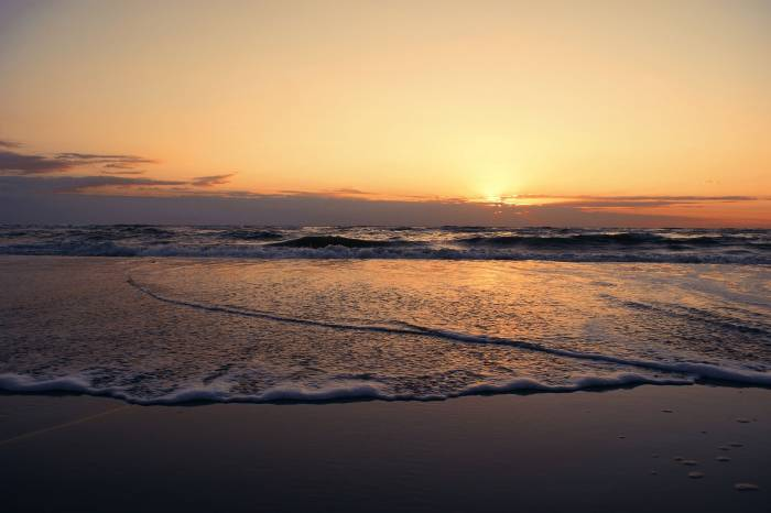 Пляж, вода, берег, закат, песок, море, beach, sea