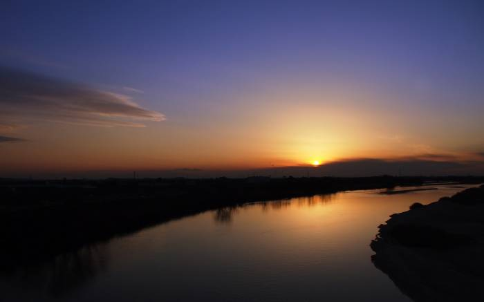 Пейзаж, река, вода, природа, закат, nature, sunset
