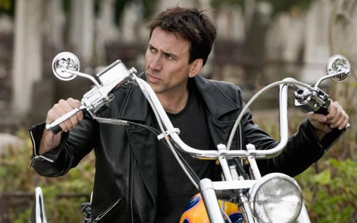 Николас Кейдж, мужчина, мотоцикл, Nicolas Cage