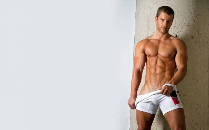 Мужчина, пресс, мышцы, мускулы, плавки, секси, man