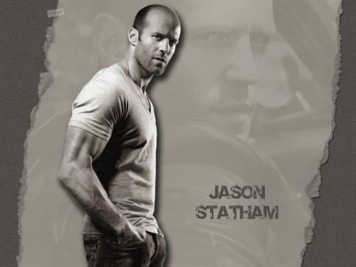 чёрно-белое фото Jason Statham