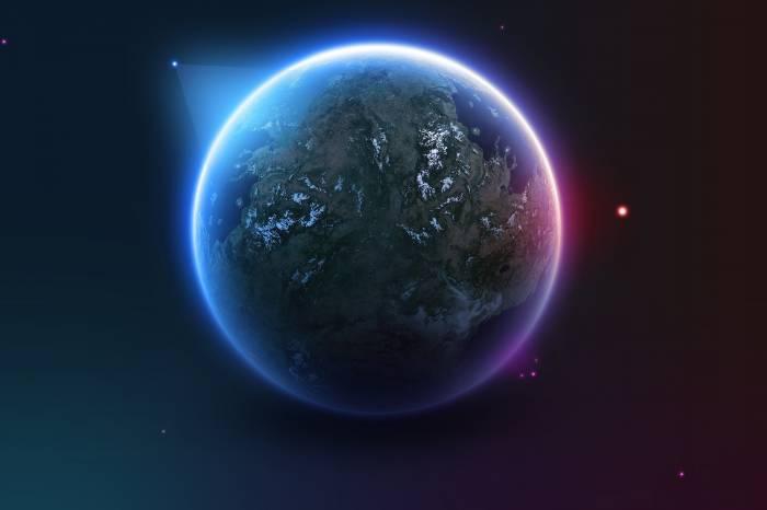 Планета, звезды, world, stars, космос, earth