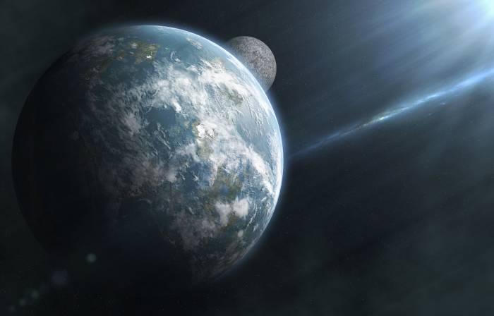 Планета, спутник, космос, Луна, Земля, Moon, Earth
