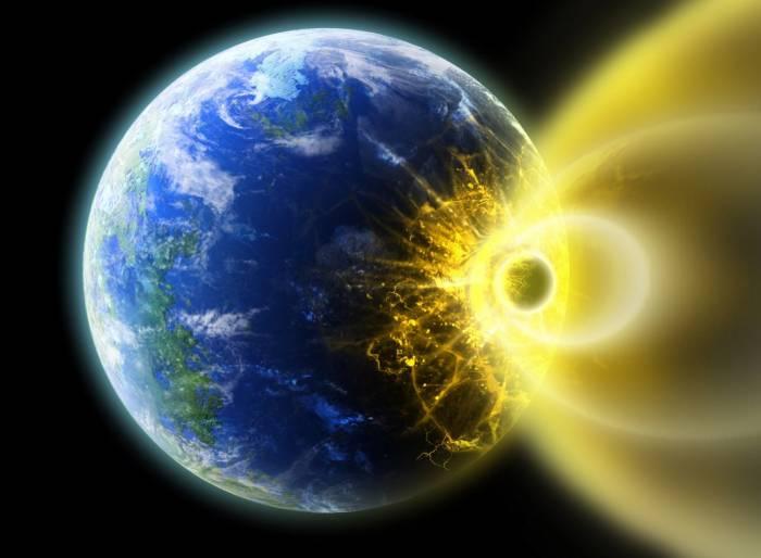 Космос, планета, Земля, комета, space, Earth