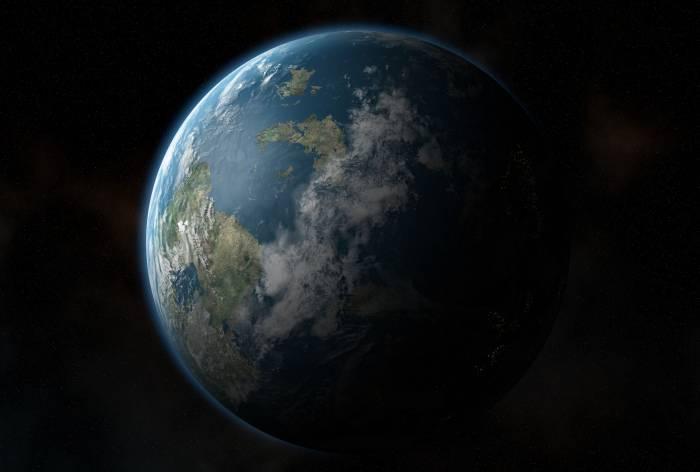 Планета, Земля, космос, звезды, ночь, день, planet