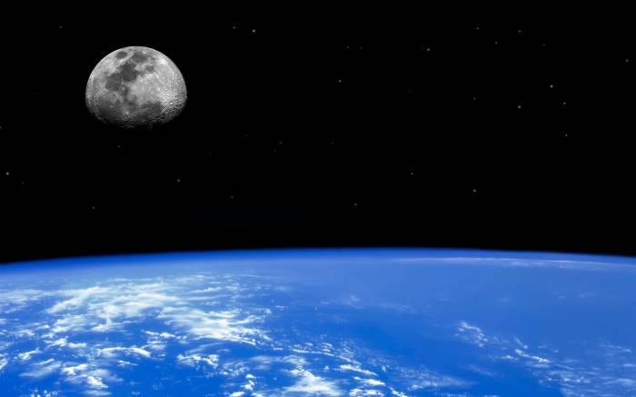 Земля, орбита, планета, спутник, Луна, космос
