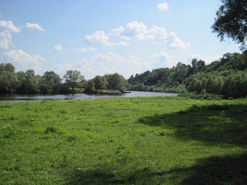 Река Десна, паром, фото Мезин, фото Мізин