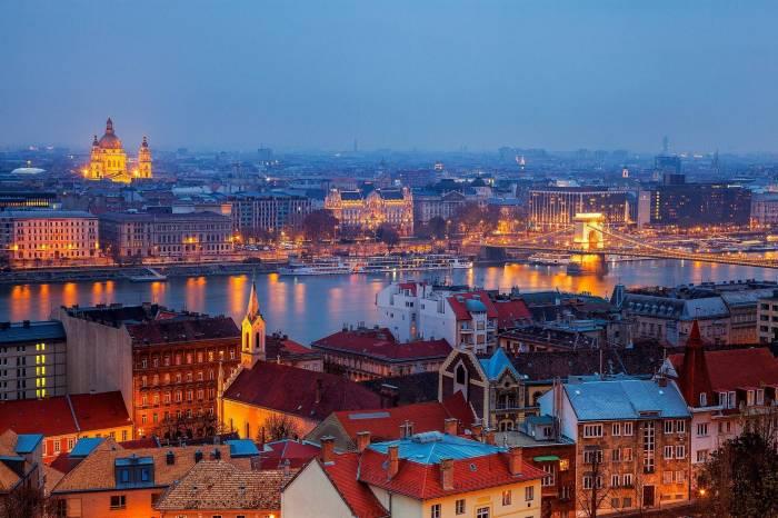 Будапешт, Венгрия, город, река, Budapest, Hungary
