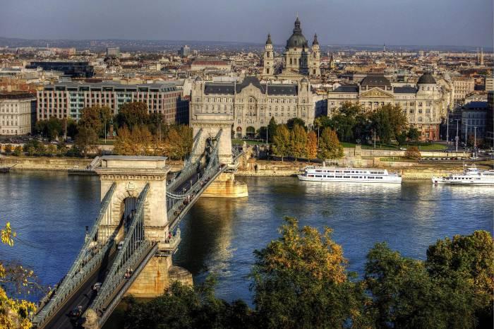 Chain Bridge, Budapest, город, Будапешт, мост