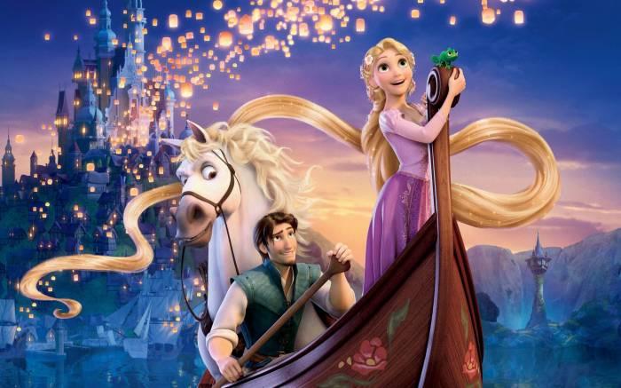 Рапунцель, Rapunzel, мультфильм, девушка, парень