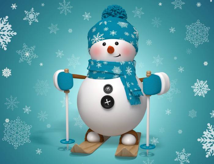 Снеговик на новый год фото