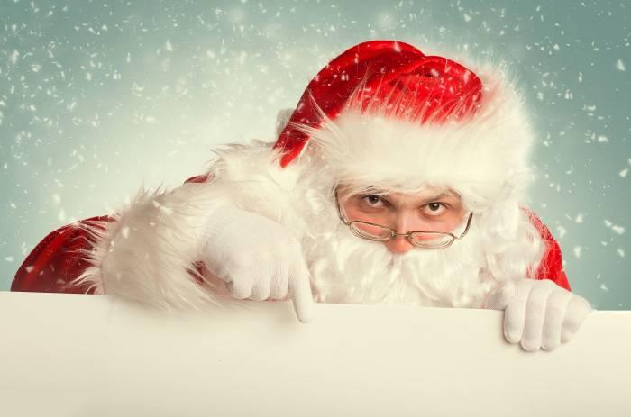 Дед Мороз, Санта Клаус, очки, костюм, Santa Claus