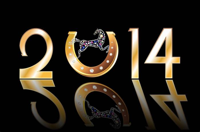Новый год, 2014, подкова, год лошади New Year