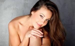 Lorena G, девушка, голая, шатенка, взгляд, girl