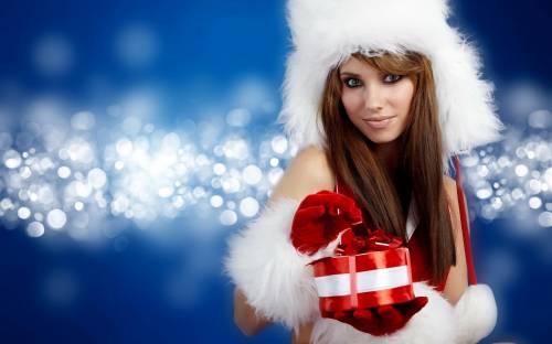 Снегурочка, девушка, шатенка, праздники, новый год