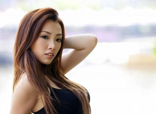 Азиатка, девушка, asian, women, лицо